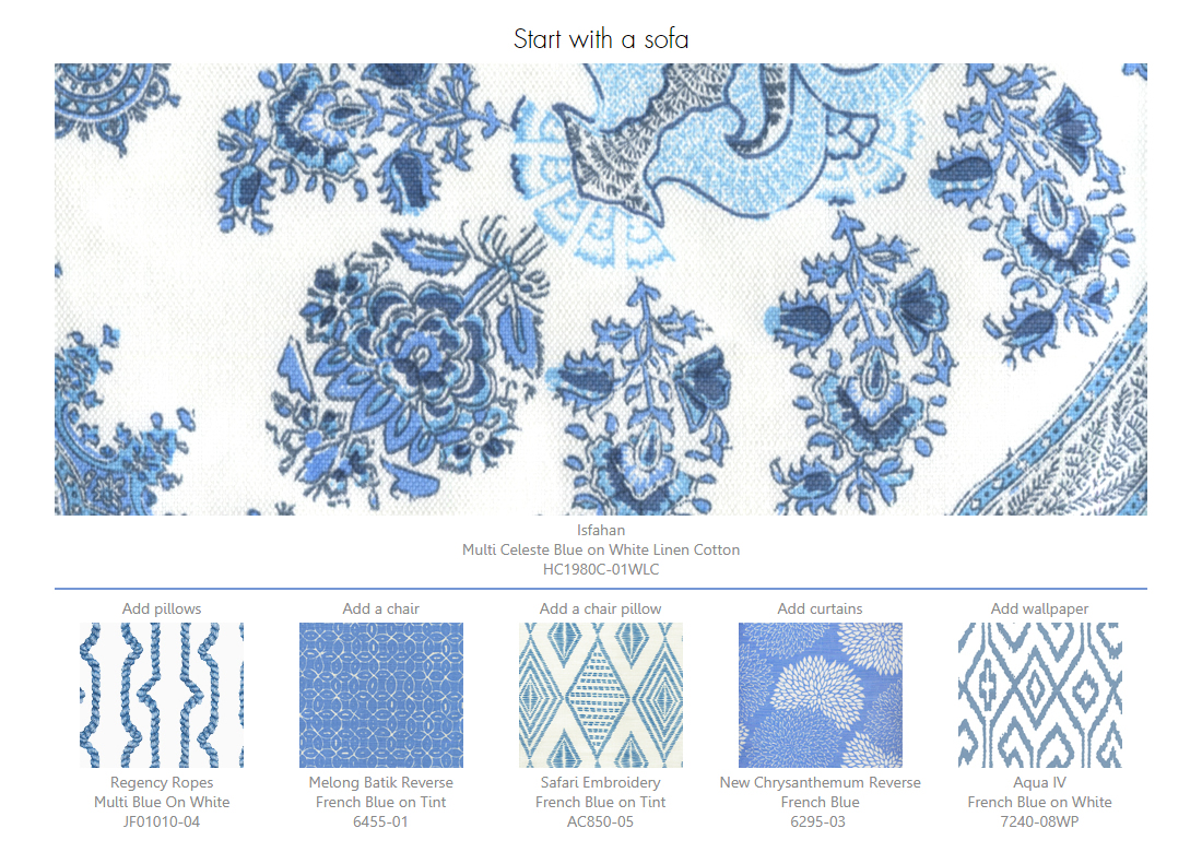 Home Couture Isfahan Blue Design Ideas
