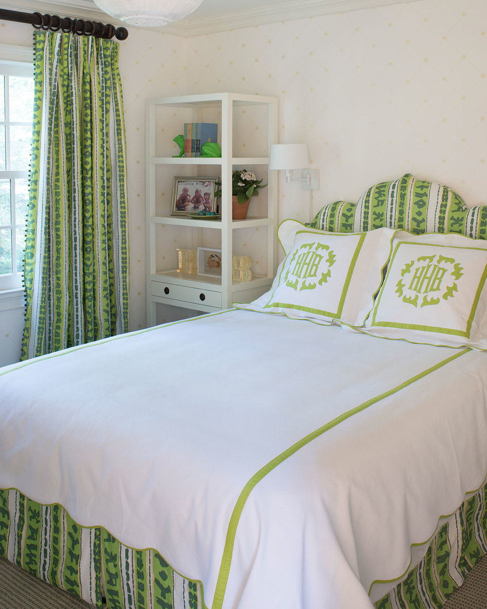 China Seas Abaco Stripe bed and curtains