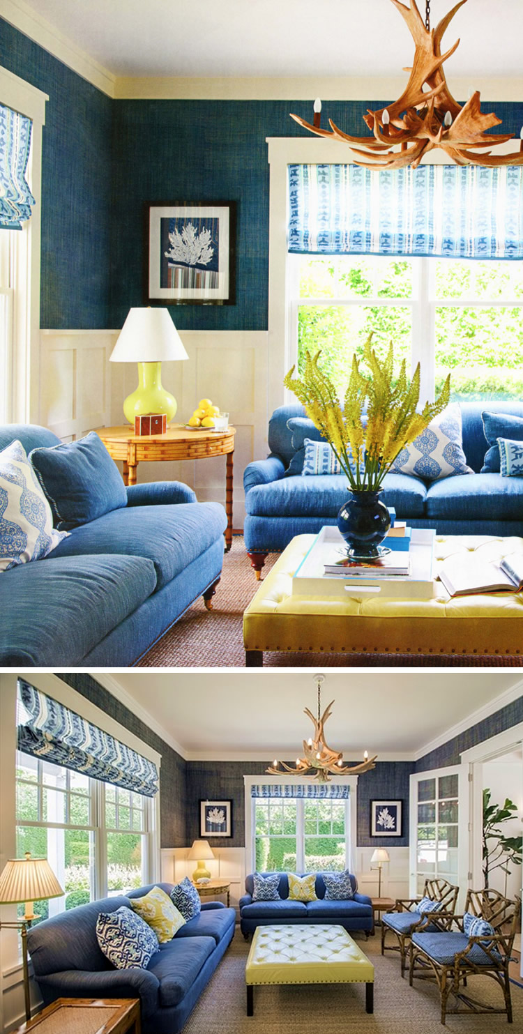 China Seas Abaco Stripe shades and pillows by Meg Braff