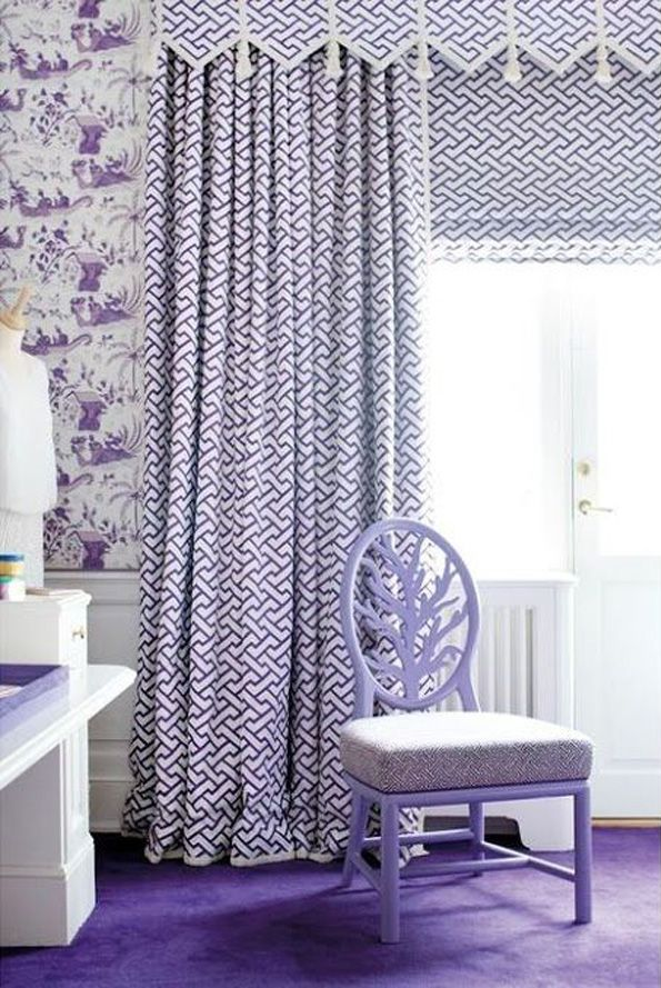 China Seas Aga curtains with Tableau wallpaper