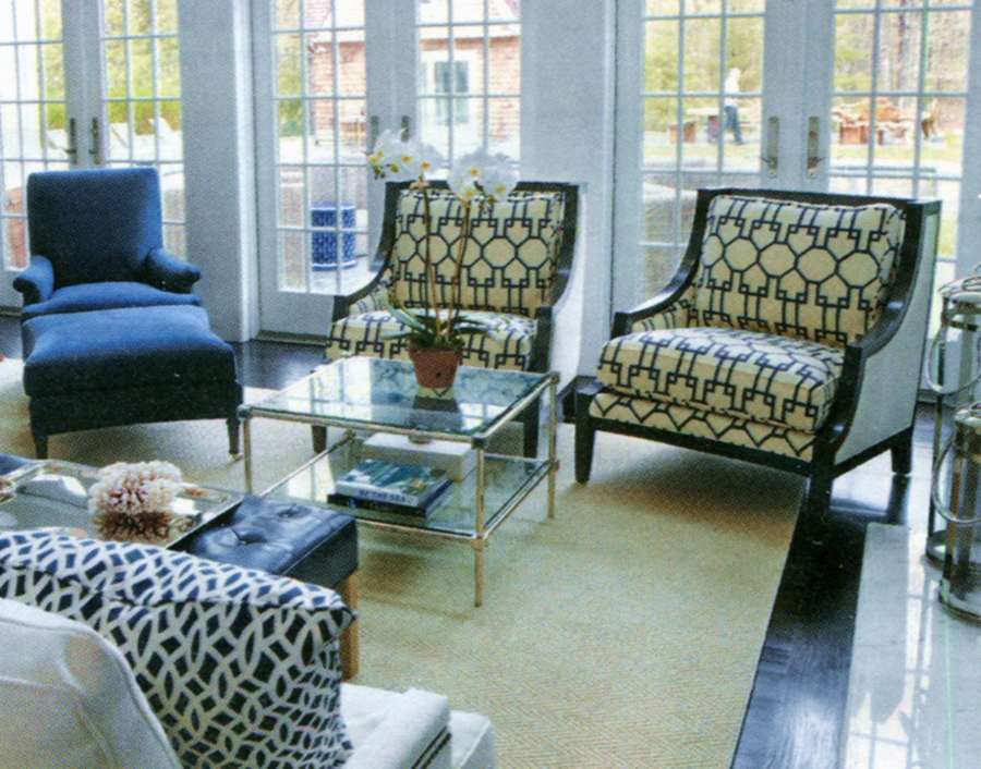 quadrille brighton chairs interior design by libby langdon - Libby Langdon Furniture