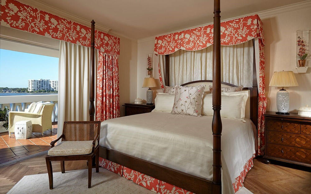 Quadrille Happy Garden Background curtains and bed by Jeffrey Butler Haines