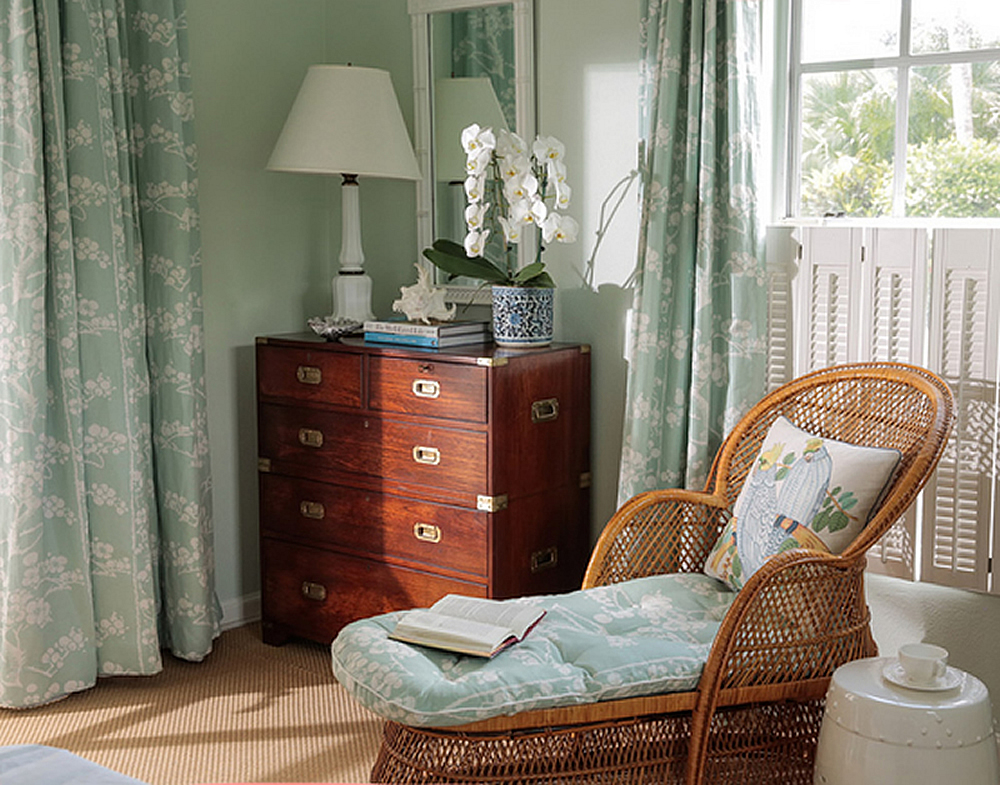 China Seas Hawthorne chair and curtains by Amanda Lindroth