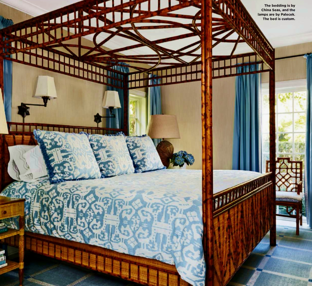 China Seas Island Ikat bedding
