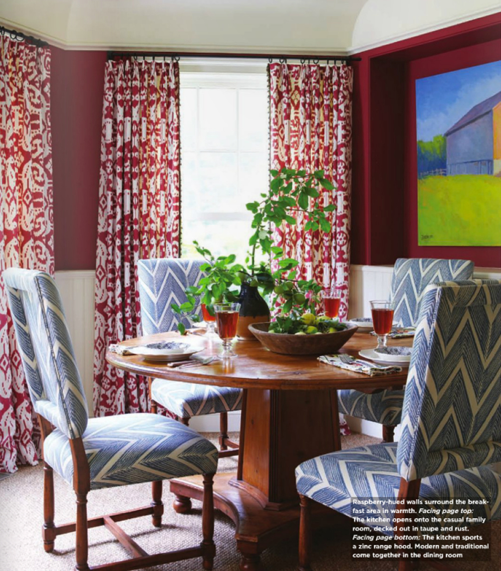 China Seas Island Ikat curtains by Charlotte Barnes