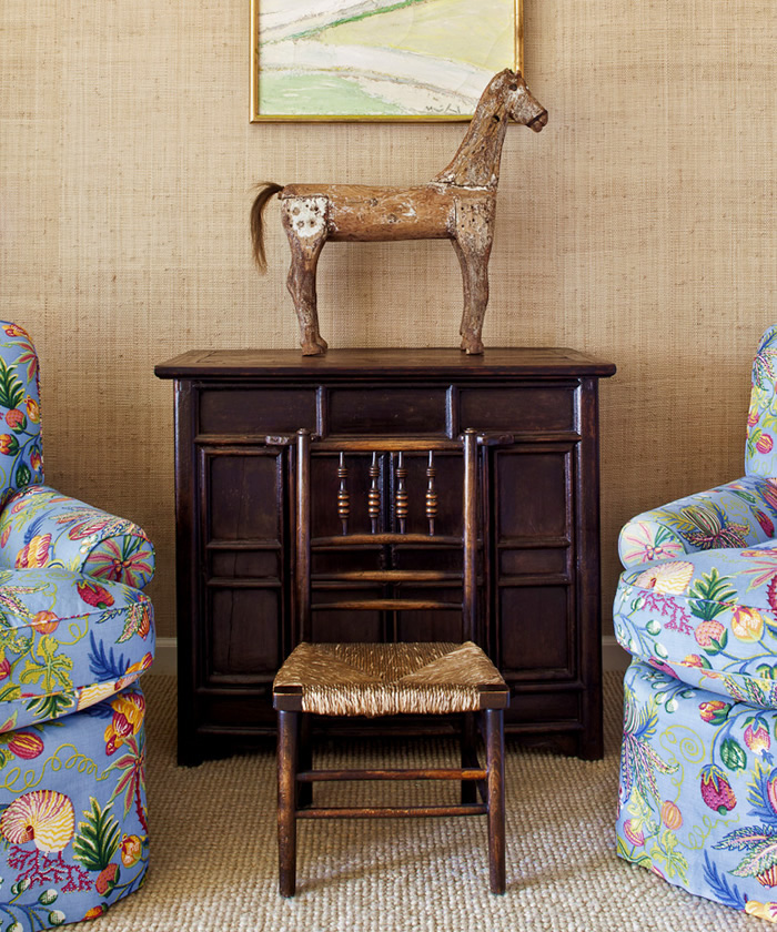 Quadrille Jacaranda chairs by Kathy Abbott