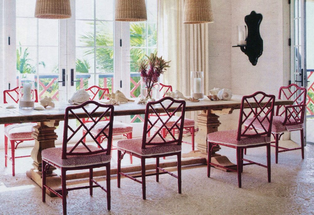 China Seas Java Java chairs by Alessandra Branca in Architectural Digest