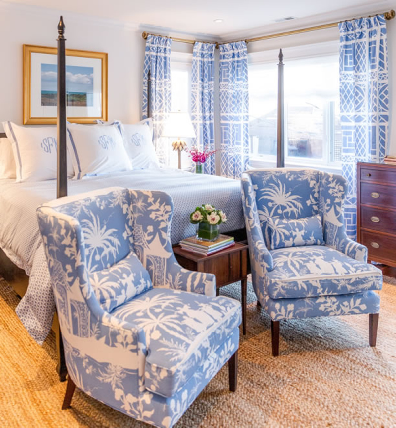 Blue And White Bedroom Ideas Bedroom Furniture Ideas Zig Zag Bedroom Wallpaper Brown Bedroom Curtain Ideas: China Seas Lyford Background Chairs
