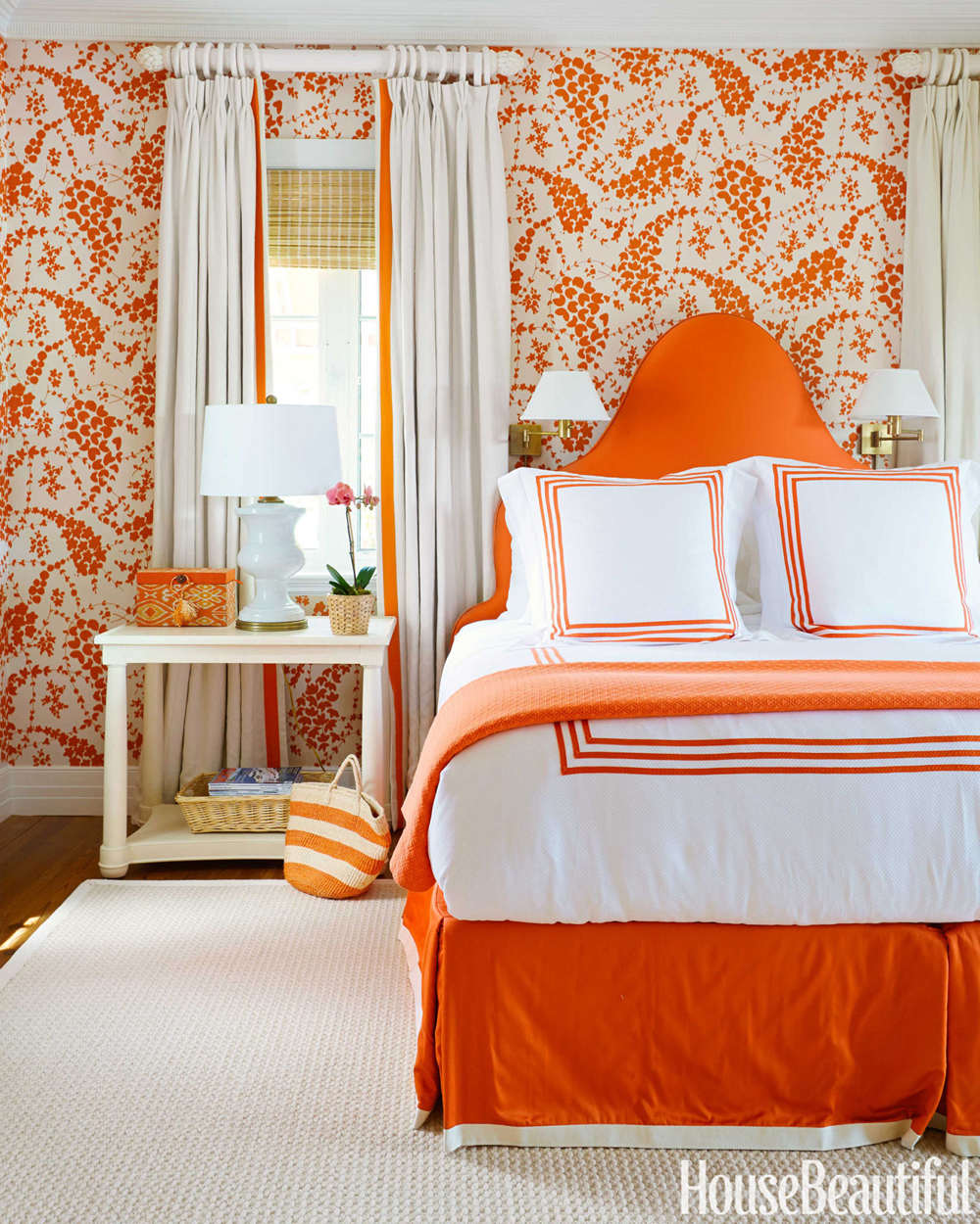 China seas lysette wallpaper by amanda lindroth in house for House beautiful bedroom decor