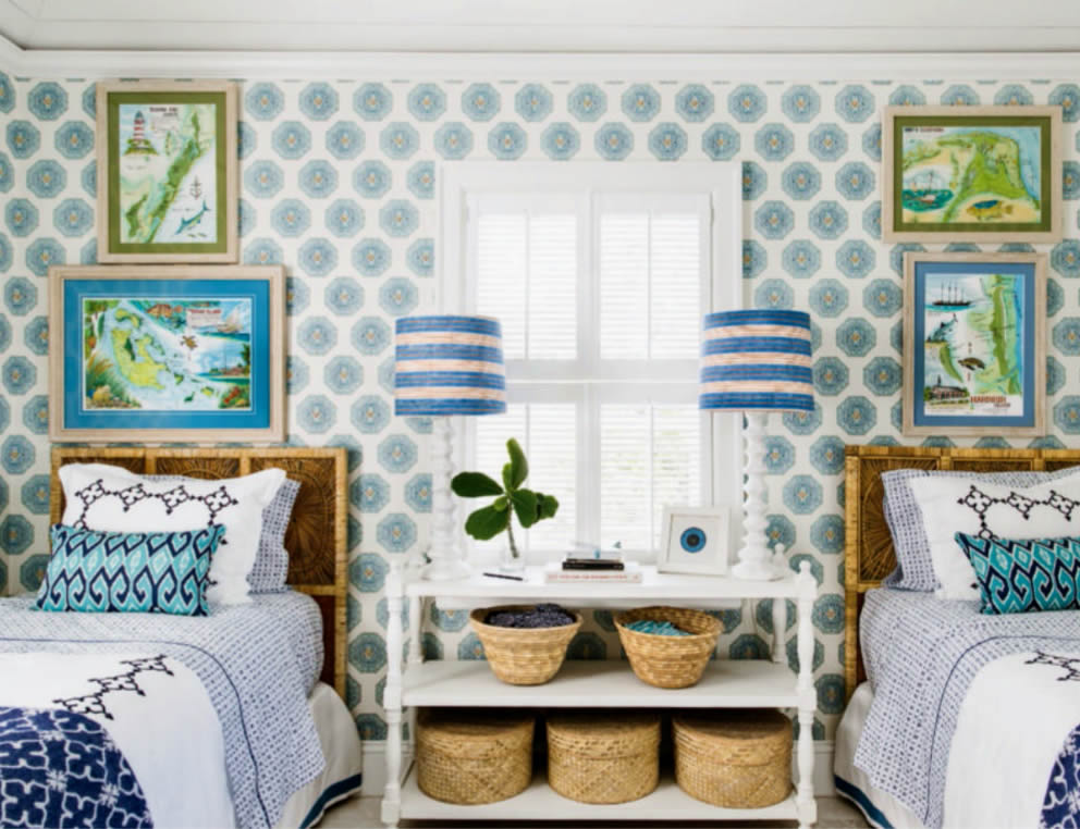 Home Couture Medallion wallpaper with China Seas Aquarius