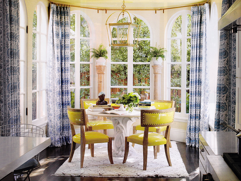 Quadrille Palampore Stripe curtains by Palmer Weiss