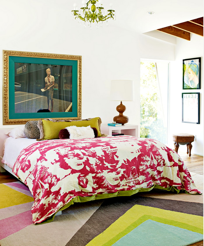 Quadrille Paradise Background bedspread
