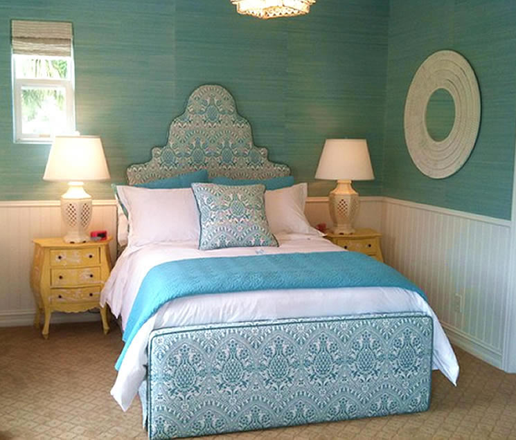 Quadrille Pina bed by Kathleen DiPaolo
