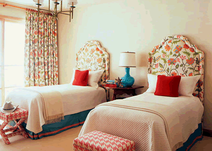 Alan Campbell Potalla curtains and headboards