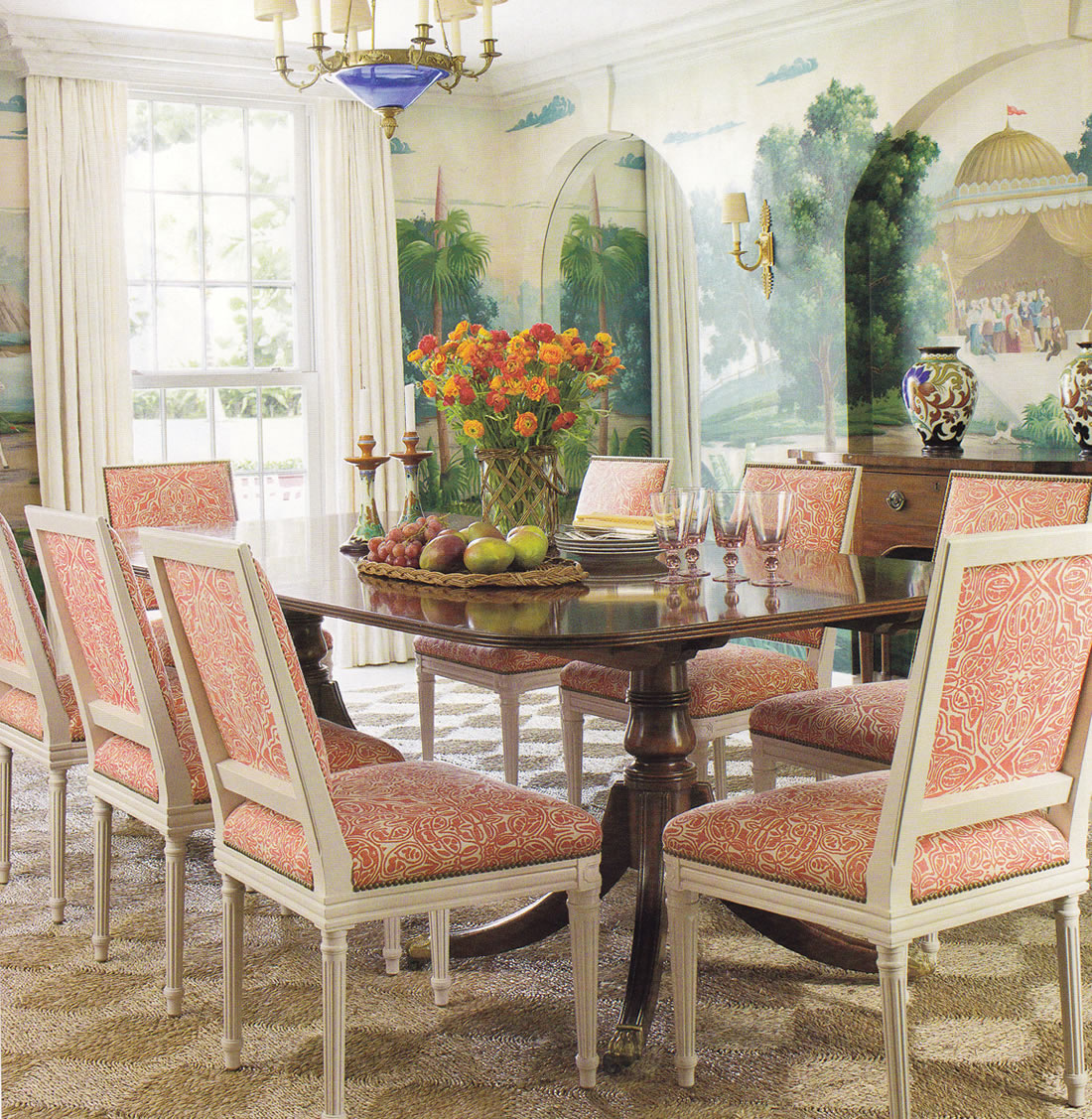 Quadrille San Michelle Dining Chairs By Andrew Raquet