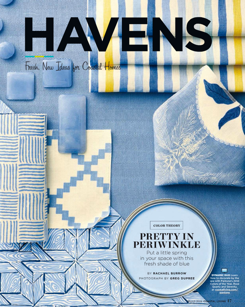 China Seas Textura and Parquetry swatches in Coastal Living