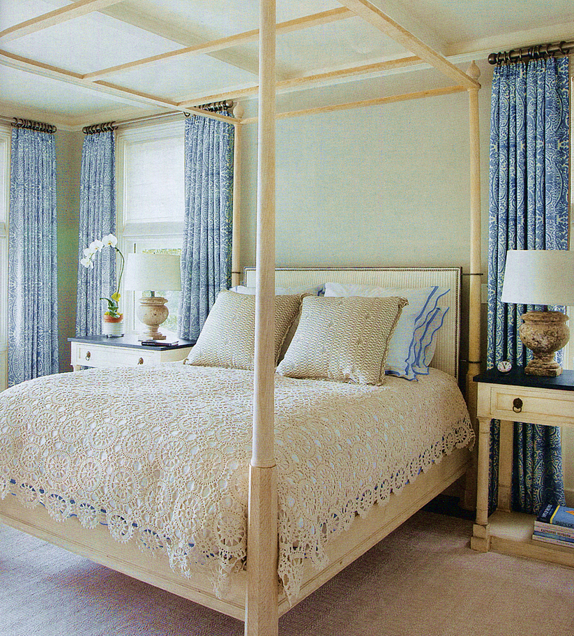 Quadrille Veneto curtains and Carlo II pillows by Marshall Watson