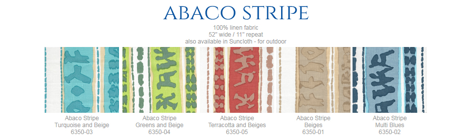 China Seas Abaco Stripe fabric group