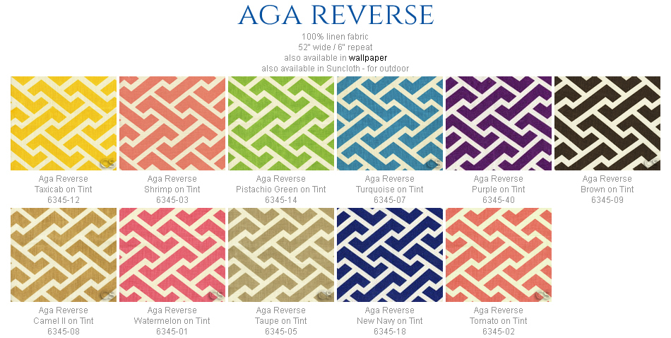 China Seas Aga Reverse fabric group