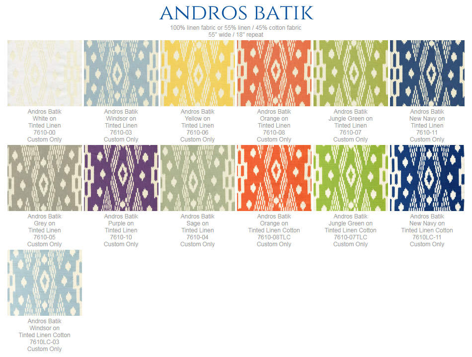 China Seas Andros Batik fabric group