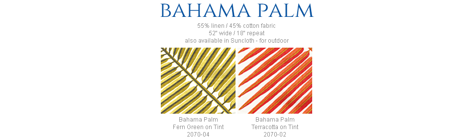 China Seas Bahama Palm fabric group