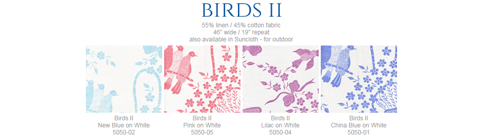 China Seas Birds II fabric group