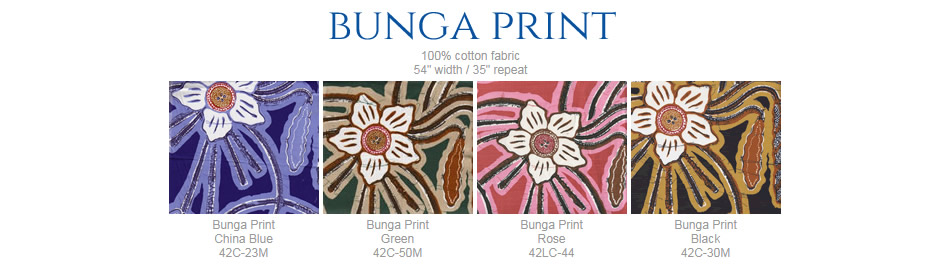 China Seas Bunga Print fabric group