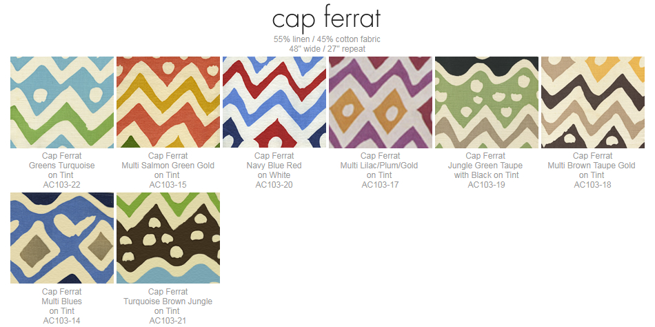 Alan Campbell Cap Ferrat fabric group