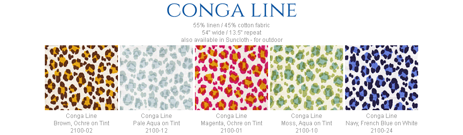 China Seas Conga Line fabric group