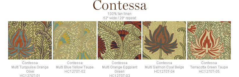 Home Couture Contessa fabric group
