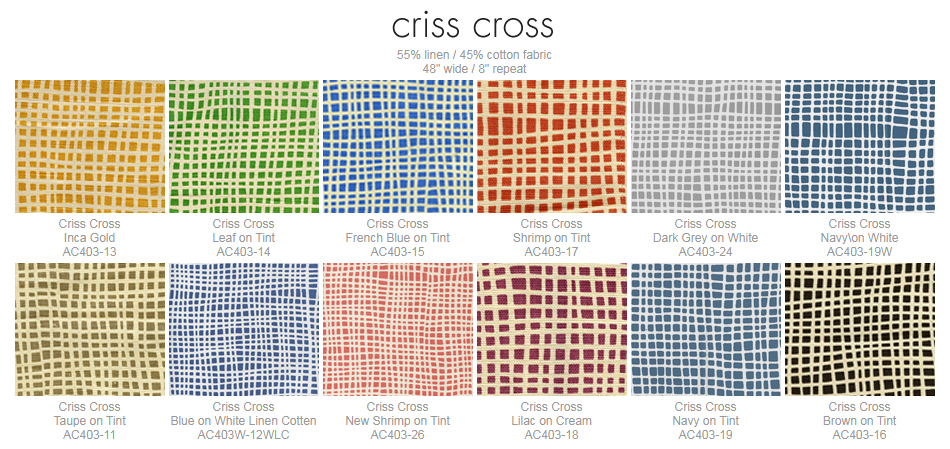 Alan Campbell Criss Cross fabric group