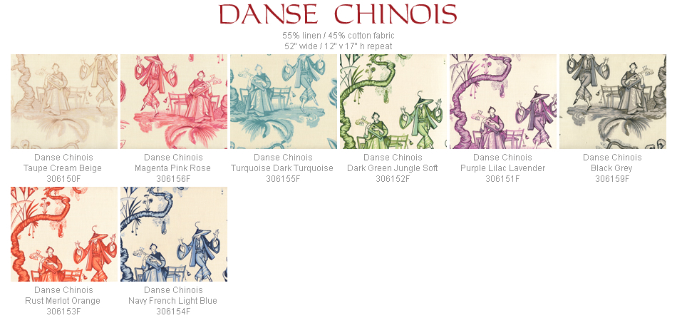 Quadrille Danse Chinois fabric group
