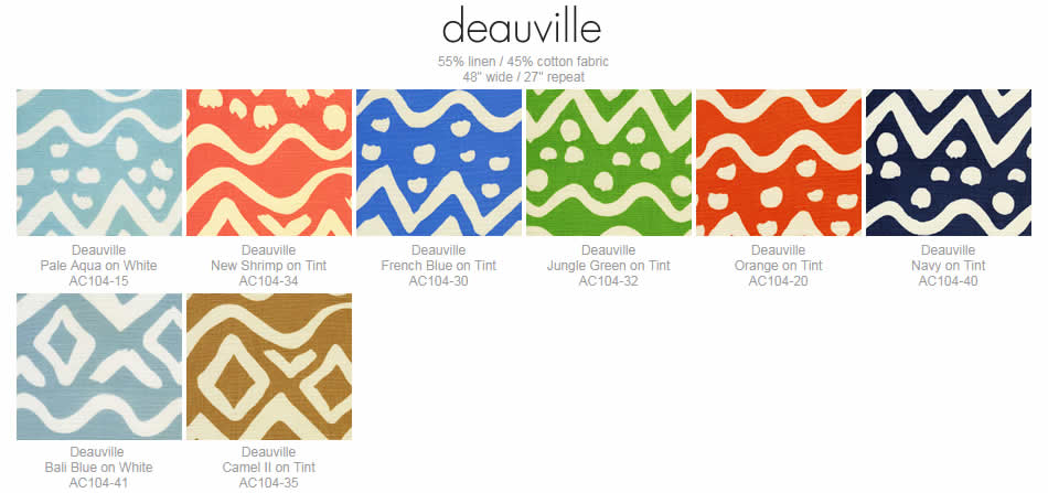 Alan Campbell Deauville fabric group