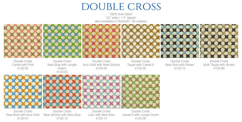 China Seas Double Cross fabric group