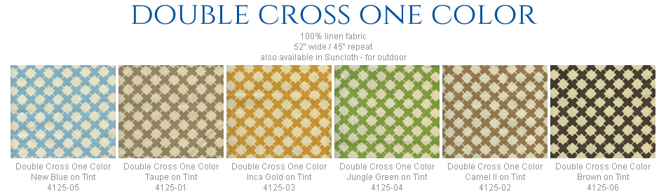 China Seas Double Cross One Color fabric group
