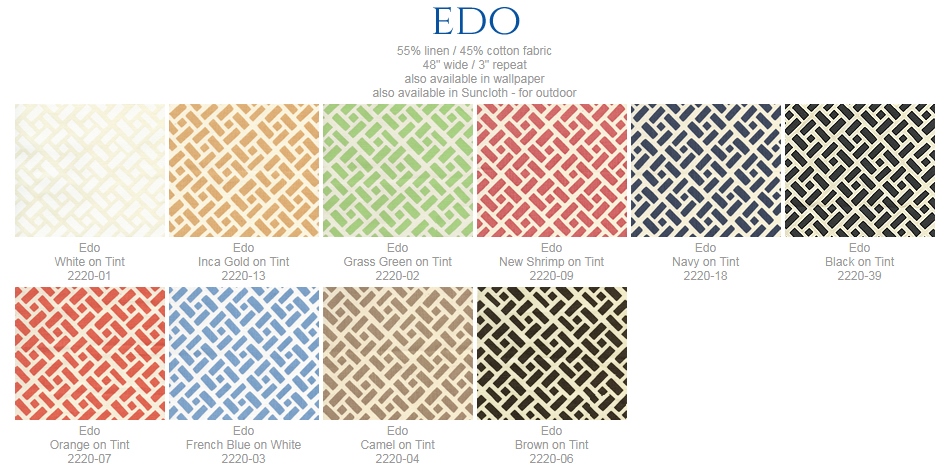 China Seas Edo fabric group