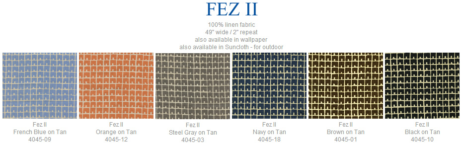 China Seas Fez II fabric group