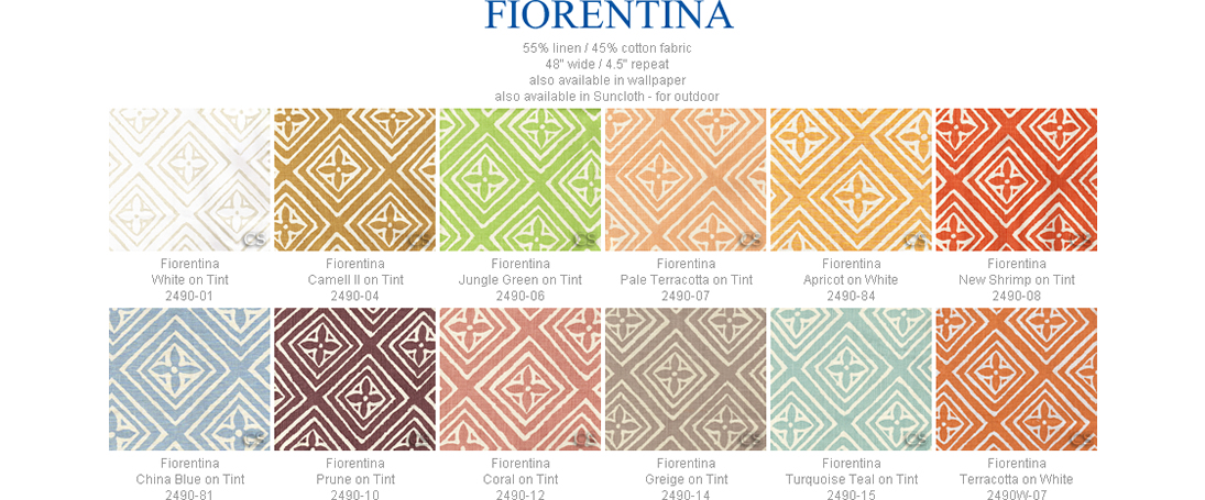 China Seas Fiorentina fabric group