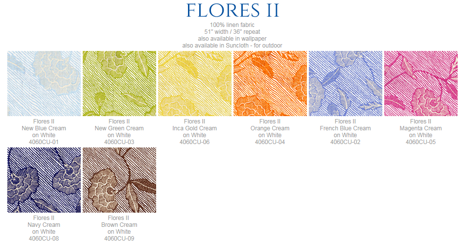 China Seas Flores II fabric group