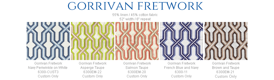 China Seas Gorrivan Fretwork fabric group
