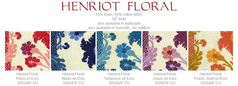 Quadrille Henriot Floral fabric group