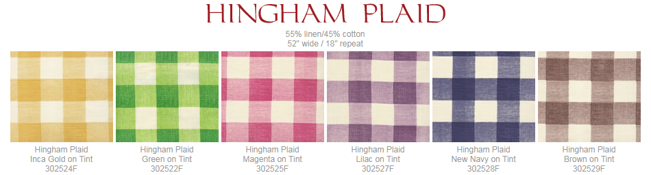 Quadrille Hingham Plad fabric group