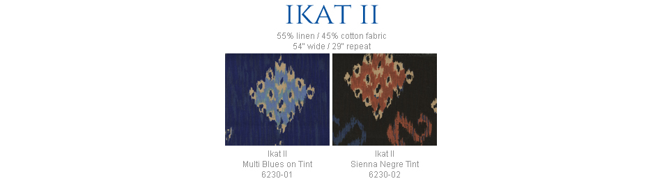 China Seas Ikat II fabric group