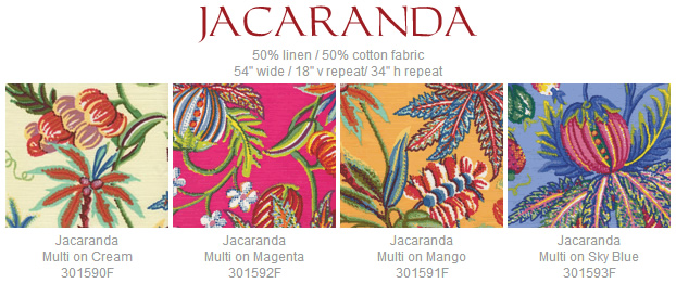 Quadrille Jacaranda fabric group
