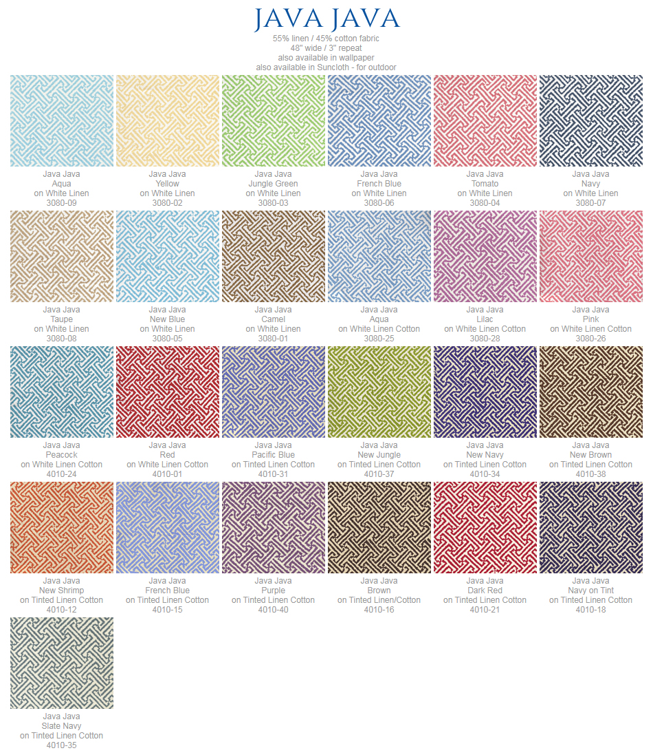 China Seas Java Java fabric group