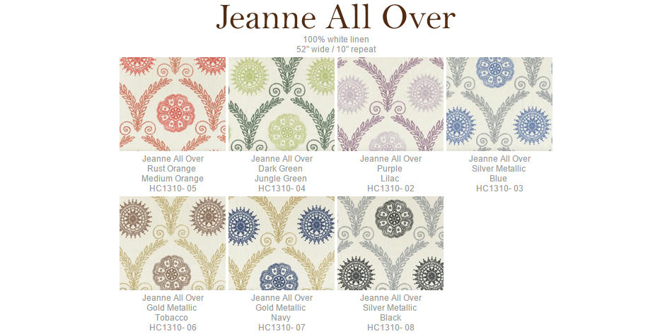 Home Couture Jeanne All Over fabric group