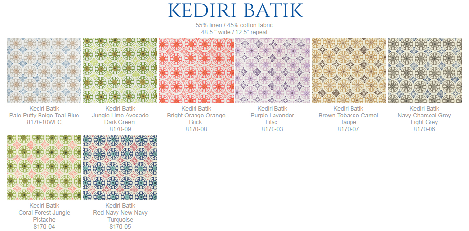 China Seas Kediri Batik fabric group