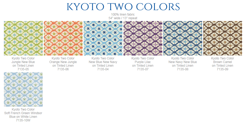 China Seas Kyoto Two Color fabric group