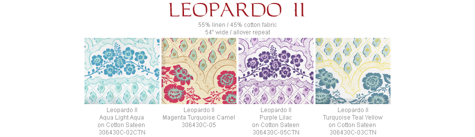 Quadrille Leopardo II fabric group