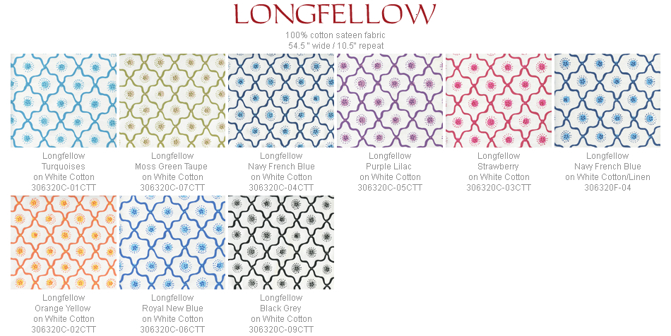 Quadrille Longfellow fabric group